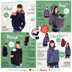 Comparison of our jackets by VivalaMamaBerlin on Etsy