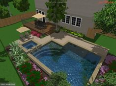small inground pools for small yards | ... Austin IGP/Spa Build • Under Construction • Trouble Free Pool