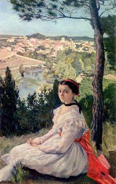 Pohled na městečko - Frédéric Bazille | ARTMUSEUM.CZ