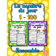 Le nombre du jour - les nombres 1-100 (Ensemble) Maths Guidés, Math 2, 1st Grade Math, Guided Math, Grade 1, Daily Math, Daily 5, Teacher Hacks, My Teacher