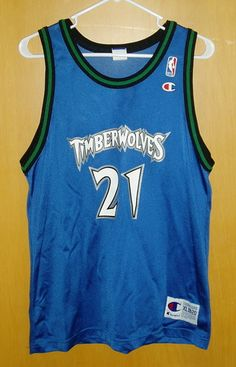 KEVIN GARNETT 21 MN Timberwolves NBA Basketball Jersey Youth XL 18 20 Champion