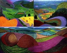 david hockney landscapes - Google Search