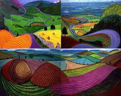 david hockney landscapes - Google Search