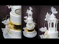 Assembling and Decorating the Butterfly Paradise Wedding Cake - Yeners Way
