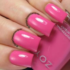 Hollywood Pink Nail Polish! Zoya Rooney from the Zoya Tickled Collection available on http://www.zoya.com