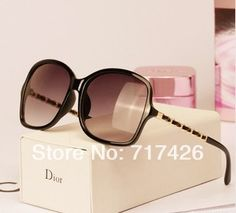 2014 New Arrival Vintage Imitation Leather Frame Women Sunglasses Free Shipping