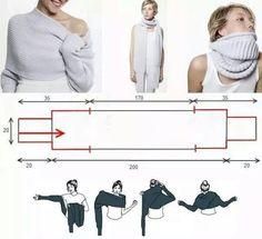 Gratis haakpatroon sjaal met mouwen