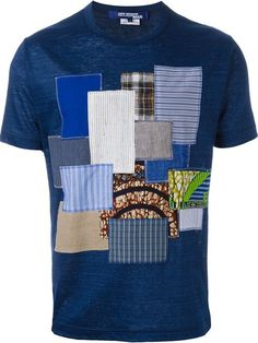 Shop Junya Watanabe Comme Des Garçons Man patchwork T-shirt in Nike - Via Verdi from the worlds best independent boutiqu African Wear Styles For Men, African Clothing For Men, African Shirts, African Men Fashion, Mens Fashion, Moda Afro, Mens Designer Shirts, Junya Watanabe, How To Make Clothes