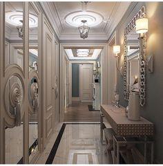 Modern Hallway Ideas from the Best Interior Designers Interior Design Presentation, Modern Home Interior Design, Classic Interior, Interior Exterior, Best Interior, Luxury Interior, Hallway Decorating, Entryway Decor, Interior Decorating