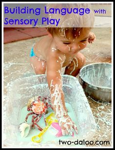 This is a great 'How to' for building language with sensory play at Twodaloo. It's a great place to start on your sensory journey. Sensory Activities, Therapy Activities, Infant Activities, Sensory Play, Educational Activities, Preschool Activities, Play Activity, Sensory Table, Therapy Ideas