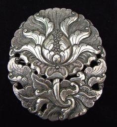 Austria, Jugendstil Brooch, silver, c. 1900.