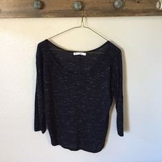 Dolman Black Top Super soft dolman heather black top. In great condition. Tops Tees - Short Sleeve