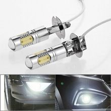 2x High Power 12V 24V H3 7.5W 6000K Xenon White LED Projector Lens DRL Daytime Running Light Driving Fog Lamp Headlight Bulb   	2x High Power 12V 24V H3 7.5W 6000K Xenon White LED Projector Lens DRL Daytime Running Light Driving Fog Lamp Headlight Bulb  	Product Description  Specifications: 			• Condition: Brand new  			• Package includes: 2 pieces of SMD light bulbs+ Free Gift  			• Size: Approx. Total H 1.37″ x Dia. 0.5″ (3.5cmx1.25cm)     US $14.40…