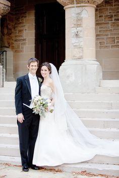Bridal gown by Monique Lhuillier. #wedding #bride