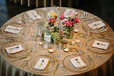 Indoor Wedding Reception at Vintage Barn Vista West Ranch. Photo by Caroline + Ben.