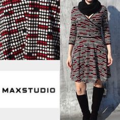 Max Studio dot dress. Dress in excellent condition. It shows of NO sign of wear ! Max Studio Dresses