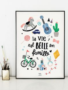 L'affiche La vie est belle en famille - Michelle Carlslund x émoi émoi EMOI EMOI - Photo