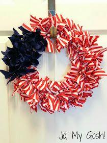 Jo, My Gosh!: Patriotic Ribbon Wreath DIY