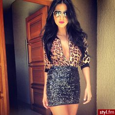 leopard and sequin