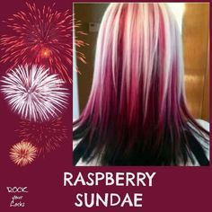 Raspberry Sundae Hair Colour Inspiration ♡ Rock your Locks -I could never pull this off but it's super cute! Hair Color And Cut, Cool Hair Color, Hair Colors, Black Hair Blonde Tips, Blonde Pink, Bright Blonde, Bright Hair, Love Hair, Gorgeous Hair