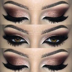 Best Gorgeous and Fashionable Brown Eye Makeup Design for Graduation - Make-up Ideen Best Gorgeous and Fashionable Brown Eye Makeup Design for Graduation - Make-up Ideen - Best Eyeliner 2016 Smokey Eye For Brown Eyes, Smokey Eye Makeup, Eyeshadow Makeup, Smoky Eye, Black Smokey, Brown Makeup, Makeup Brushes, Burgundy Makeup Look, Prom Makeup For Brown Eyes