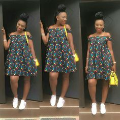 Short african print ankara gowns with flare, beautiful short off shoulder ankara gown styles with flare Short African Dresses, Short Gowns, Latest African Fashion Dresses, African Print Dresses, African Print Fashion, Africa Fashion, African Prints, African Fabric, Ankara Fashion