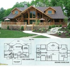 Brilliant Log Cabin Floor Plans 61 on Home Decor A. - Brilliant Log Cabin Floor Plans 61 on Home Decor A. Log Cabin Floor Plans, Log Home Plans, House Floor Plans, Chalet House, Log Home Decorating, Log Cabin Homes, Log Cabins, Cabins In The Woods, Home Fashion