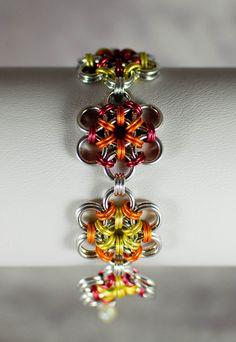Sunflower Garden Japanese Flower Bracelet