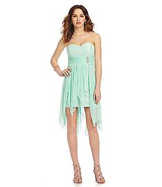 Sequin Hearts Sweetheart HiLow Dress #Dillards