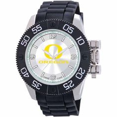 Game Time Ncaa Men's University of Oregon Ducks Beast Series Watch, Silver