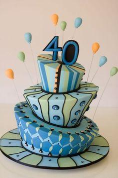 Simple Birthday Cake Designs For Men. 40th Birthday Cake Ideas