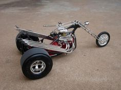 trike - Scale Auto Magazine - For building plastic & resin scale model cars, trucks, motorcycles, & dioramas Trike Chopper, Vw Trike, Triumph Chopper, Sportster Chopper, Chopper Motorcycle, Motorcycle Style, Custom Trikes, Custom Choppers, Quad