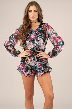 Flirty Floral Romper **Fast Free Shipping!**