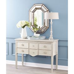 W4275Gustavian Tapered-Leg Console Table Console Tables