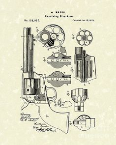 Pietta 1851 navy revolver parts caps n balls pinterest mason revolving fire arm 1875 patent art patentart fandeluxe Image collections