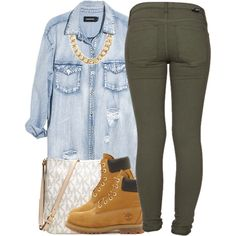 A fashion look from September 2014 featuring Monday tops, Dr. Denim jeans and Timberland ankle booties. Browse and shop related looks.