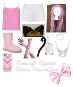 """Mystreet Winter Kawaii~Chan"" by graciekeegan ❤ liked on Polyvore featuring moda, Ally Fashion, UGG Australia, Casetify, Essie, Ross-Simons, women's clothing, women, female ve woman"