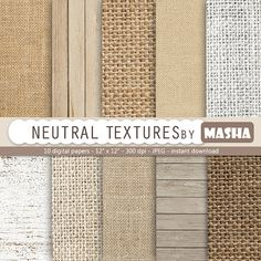 "Wood Digital Paper * Wood Scrapbook Paper Neutral digital paper: ""NEUTRAL TEXTURES"" with burlap digital paper linen wood in earth tones neutral colors. Decoration Inspiration, Design Inspiration, Earth Tones, Neutral Colors, Scrapbook Paper, Diy Furniture, Burlap, Rustic, Interior Design"