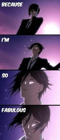 Black Butler ~~ A series of images that capture Sebastian's ego as well as his beauty.
