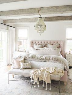 Jillian Harris Master Bedroom Reveal And Rose Quartz Headboard From The Cross Decor Design