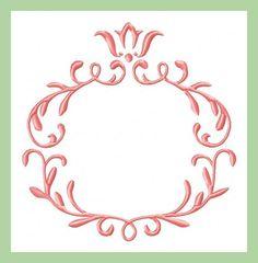 Crest Monogram Frame - Machine Embroidery Design