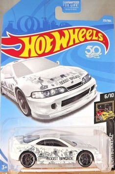 HOT WHEELS Custom '01 Acura Integra GSR #17  BLACK /& #213 WHITE LOT OF 2