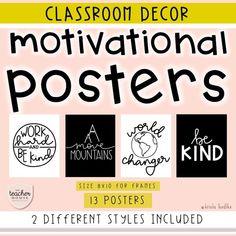 Elementary Classroom Themes, Classroom Decor Themes, Middle School Classroom, Classroom Posters, Future Classroom, Classroom Organization, Classroom Ideas, Classroom Design, Organizing