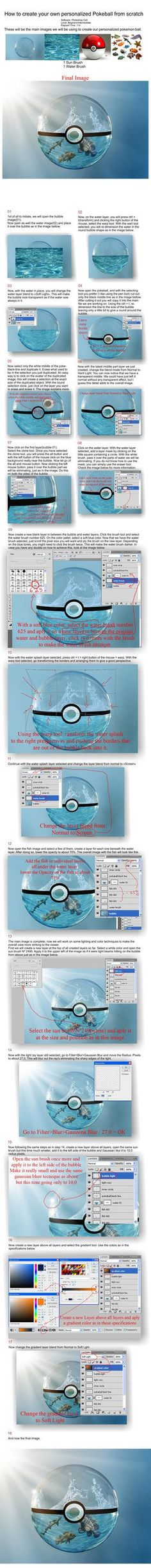 Learn How to create your own personalized real life pokeball. In this tutorial I will teach you how to create the pokeball out of a bubble and water filling. Here is one pokeball image I created pr...