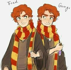 Harry potter, fred and george