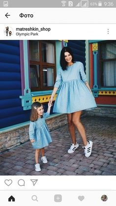 """I'm out with Mommy in look-alike dresses."""