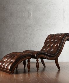Cappuccino Richardson Chaise & Ottoman Set