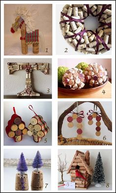 craftluxuries: Christmas wine cork specials