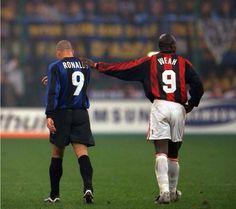 When Ronaldo met George Weah.
