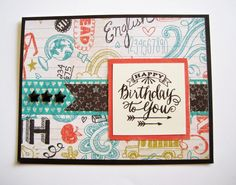 CTMH Chalk It Up card from Susan Tomaino, Independent Close To My Heart Consultant: New Cards!